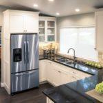 dark kitchen counter tops