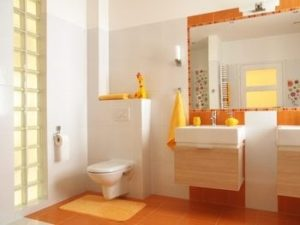Creative use of color can create exciting bathrooms.