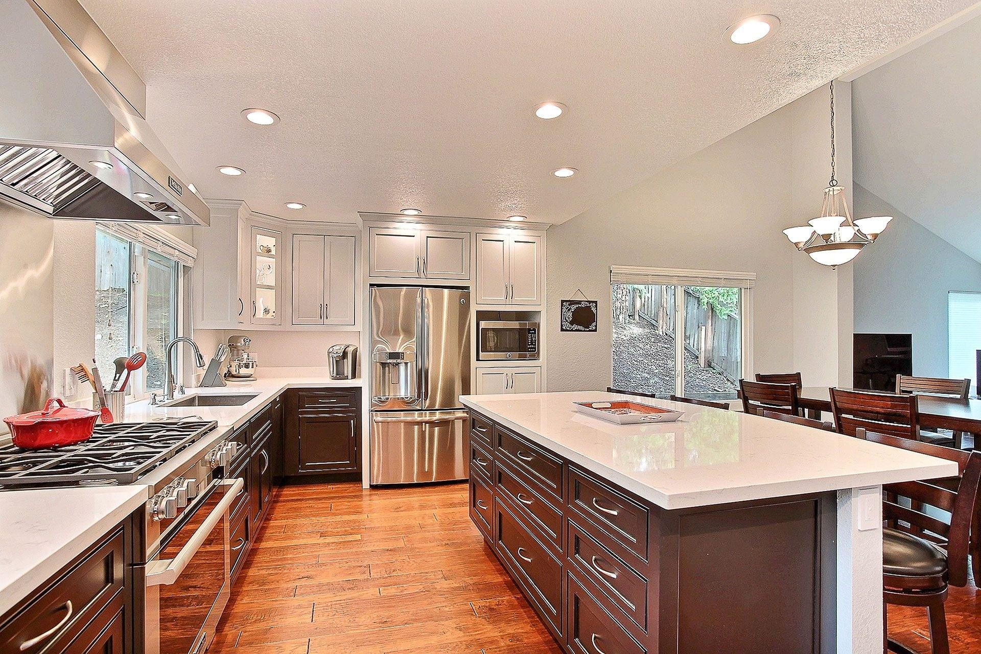 open kitchen white paint