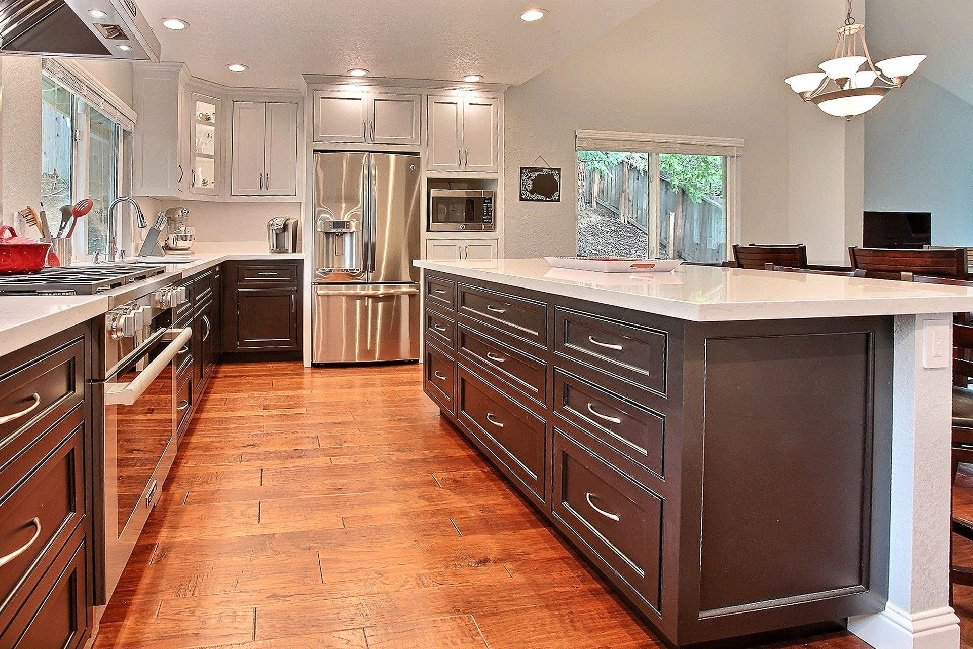 hardwood kitchen floor