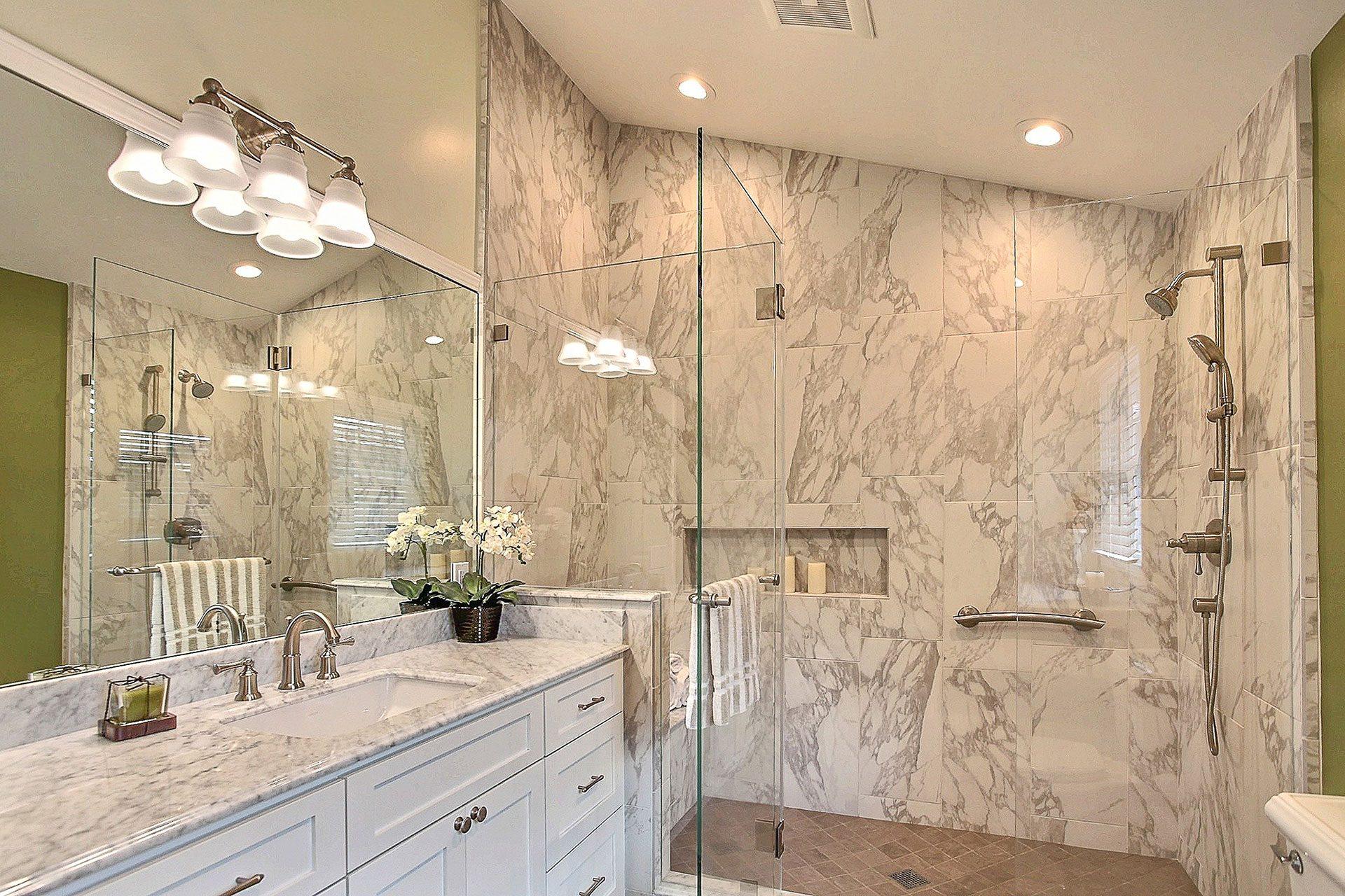 master bathroom after being remodeled