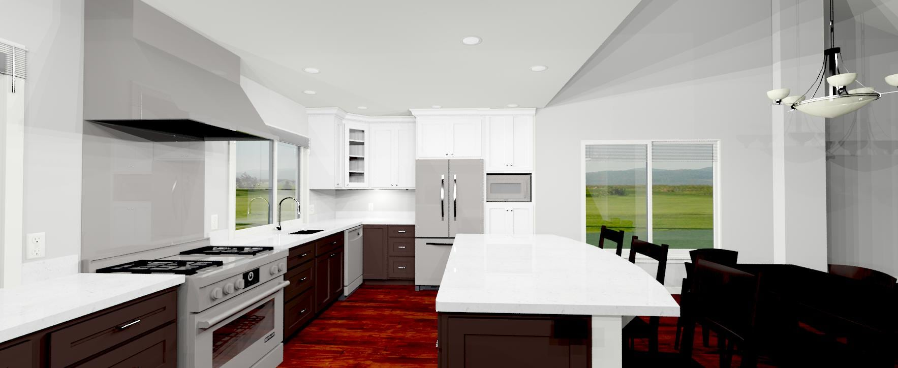 3d white counter top design