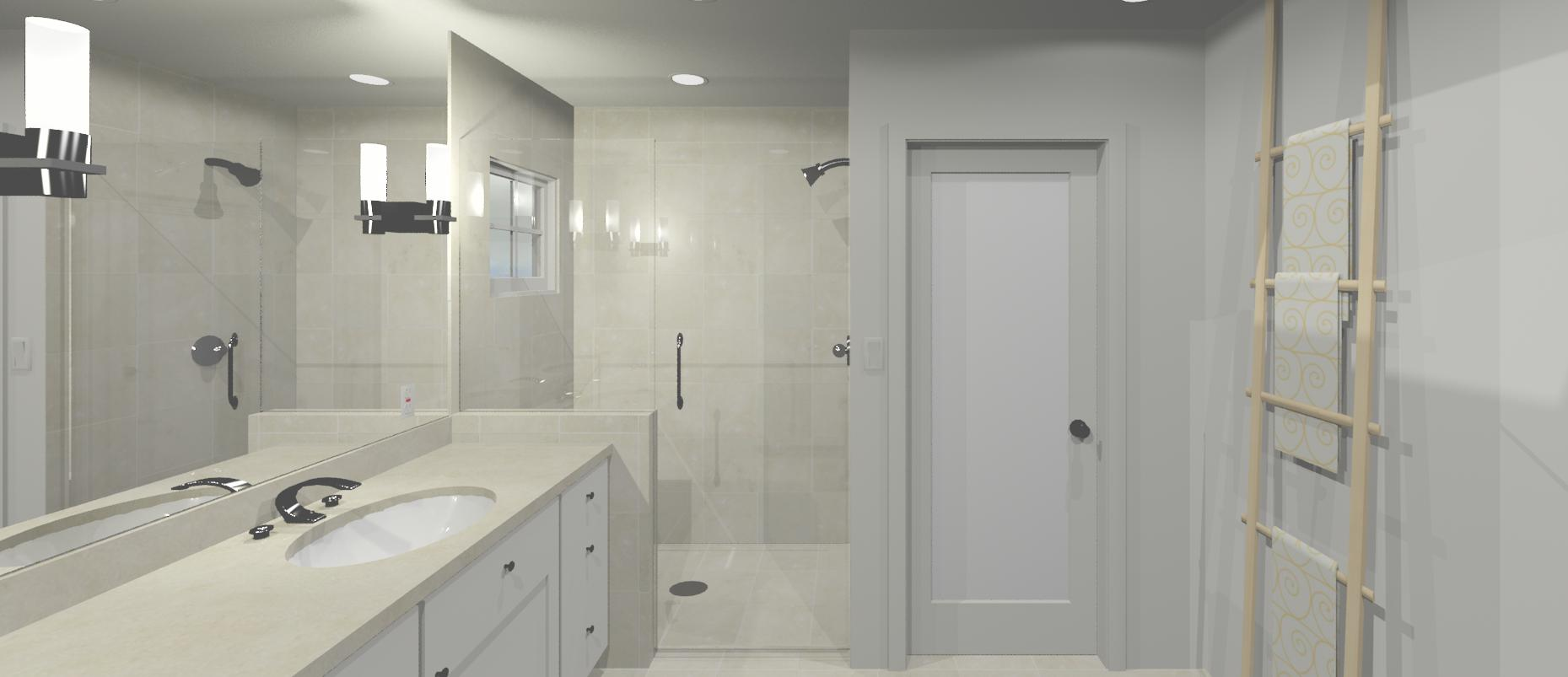 3d design white bathroom