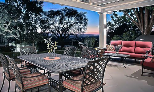 black or brown porch furniture