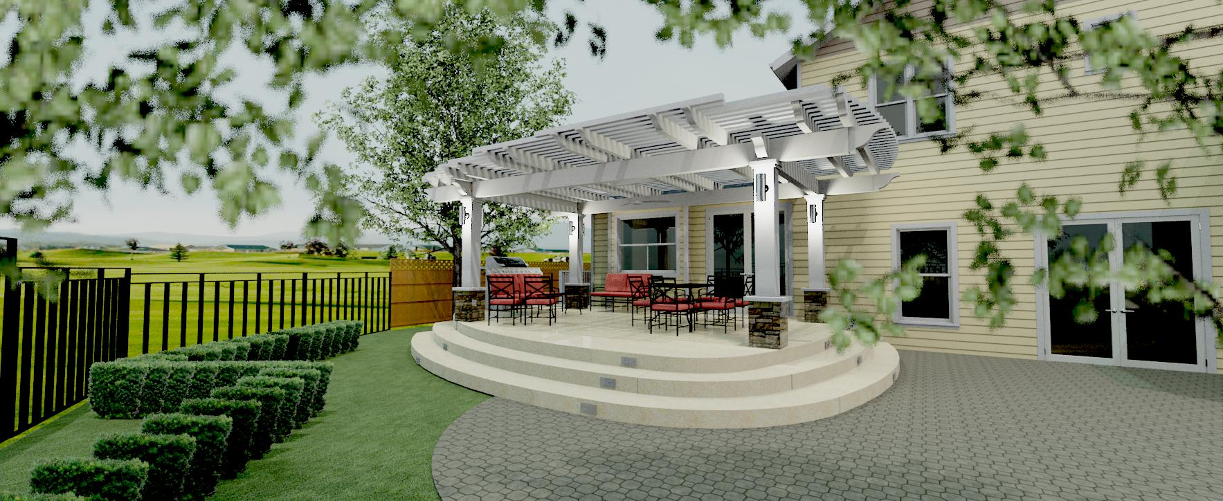 3d covered patio