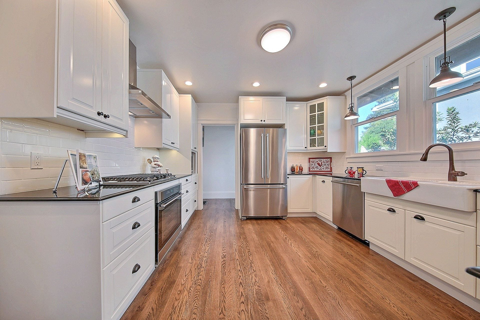 kitchen after bungalow remodel