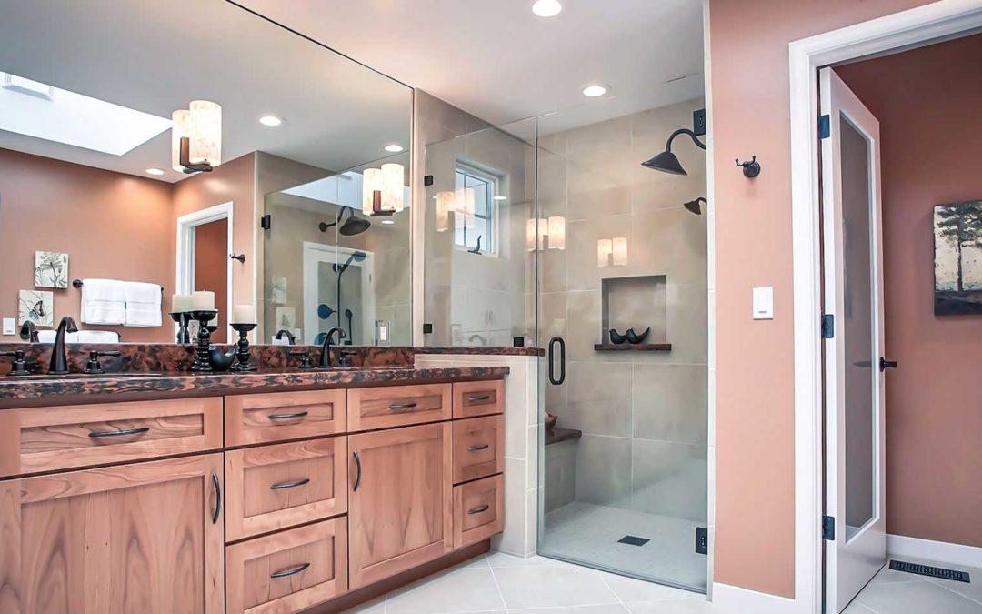 wooden cabinet bathroom