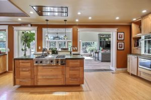 remodeled kitchen in an open concept contemporary style