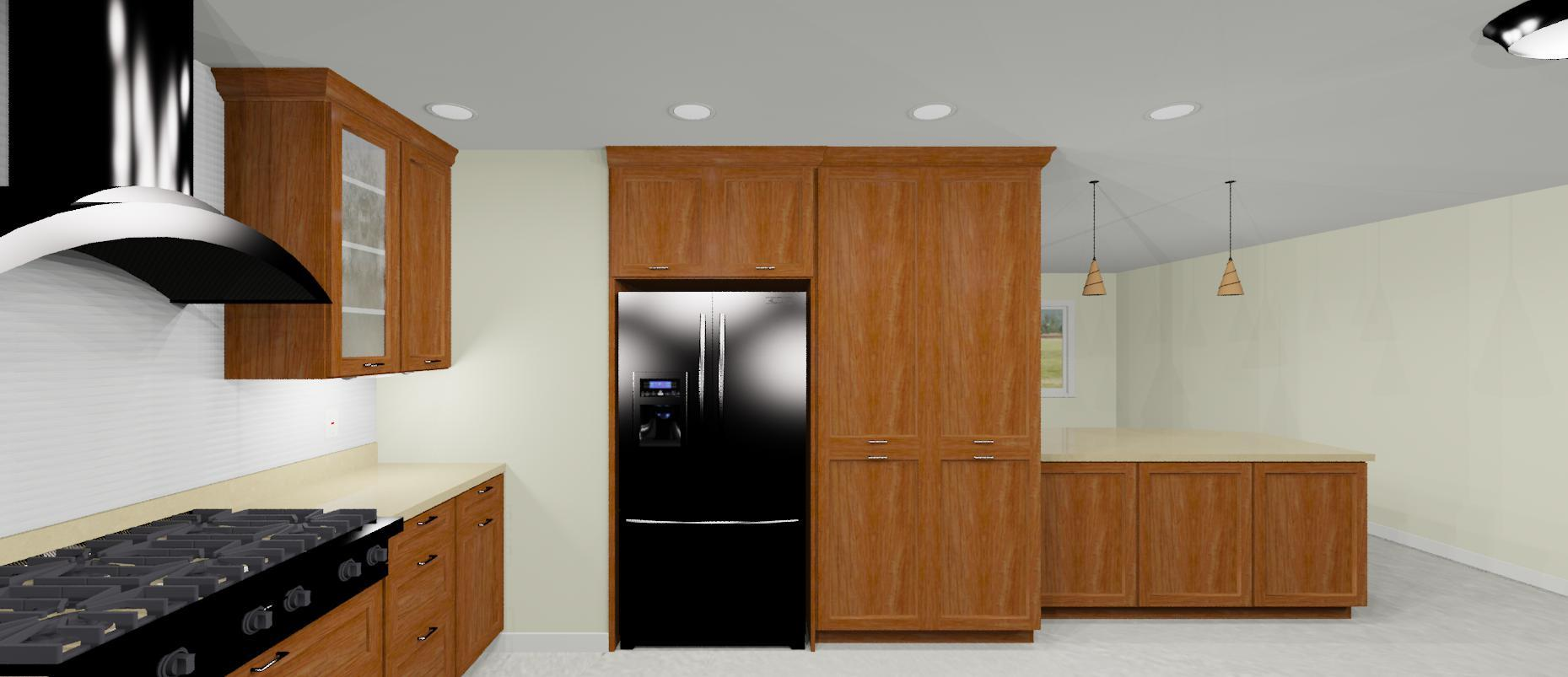 3d design of kitchen