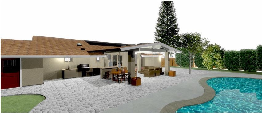 3d design of patio