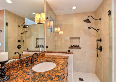 Bold & Warm Master Bathroom