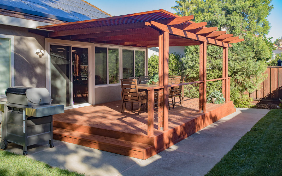 Rustic Red Deck