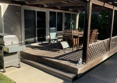 Deck from Lawn plus BBQ