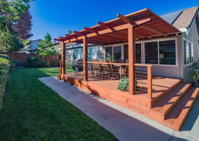 Deck from Property Corner