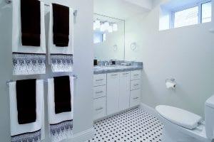 heated bathroom floor - home renovation